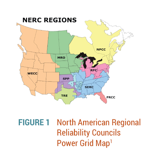 Protecting our nations electric grid gds associates inc nerc regions map publicscrutiny Image collections