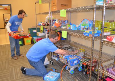 Warren Hirons & Jody Pack sorting toys